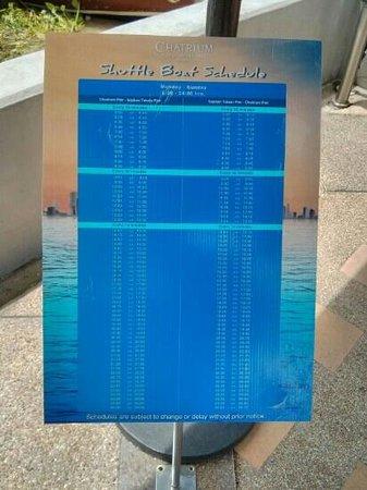 boat schedule - Bild von Chatrium Hotel Riverside Bangkok