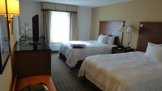 Hampton Inn Hampton-Newport News : Our room from the door