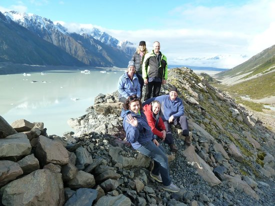 Tasman Valley 4WD & Argo Tours : Looking at Tasman Glacier Lake
