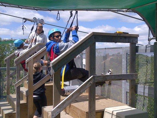 Horseshoe Resort: ready to launch on zipline