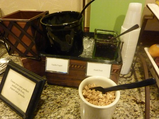 Country Inn & Suites By Carlson, Milwaukee West (Brookfield) : yogurt fixings at breakfast