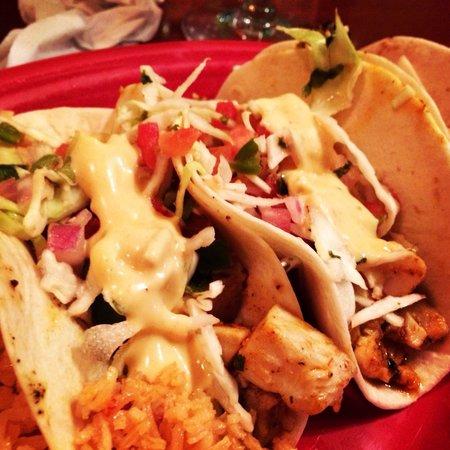 Charanda mexican grill rock hill menu prices for Baja fish tacos menu