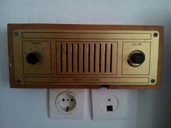 Corfu Sea Gardens: would you touch this radio?