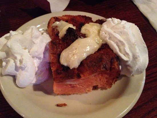 Red Lion Grog Shop: Big red strawberry bread pudding