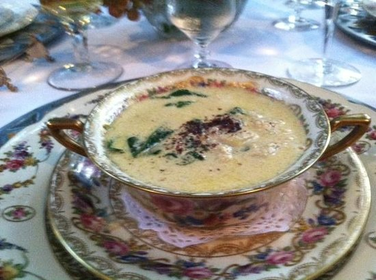Melange Bed and Breakfast: Chick Pea, Spinach, & Tahini Soup