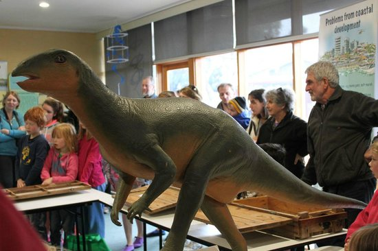 Dinosaur Dreaming: A captive audience at the Bunurong Environment Centre, Inverloch