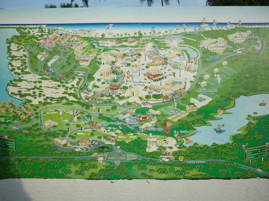 Sauipe Resorts: Mapa del complejo