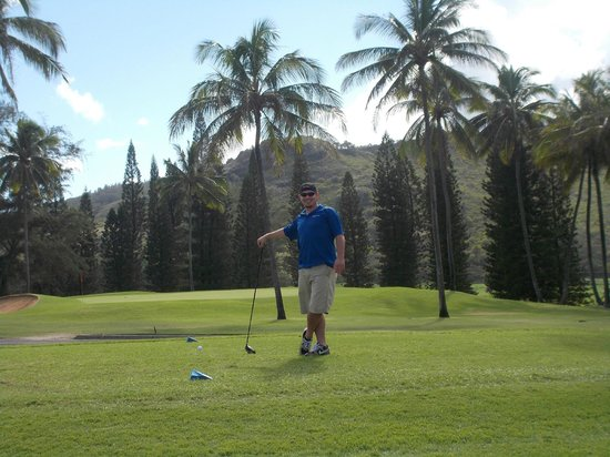 Wailua Golf Course: 1st hole