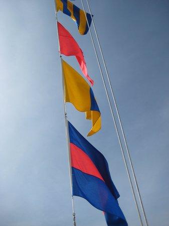 Icebreaker Mackinaw Maritime Museum Inc.: Flags flying high
