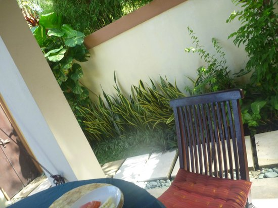 Heliconia Villas: view from the dinning table outside