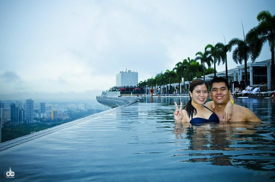 One Of Our Bucket List Swim At Mbs Infinity Pool