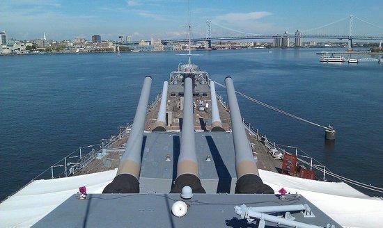 Battleship New Jersey: New Jersey's big guns.