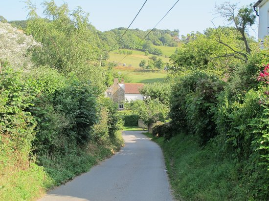 Alkham Court Farmhouse: Driving up the hill to arrive