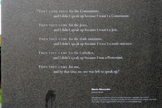Boston Quotes Unique Rev Neumoller Quote Picture Of New England Holocaust Memorial
