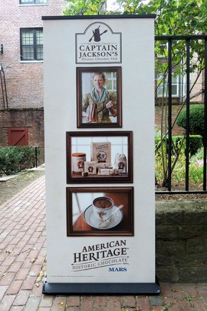 Captain Jackson's Historic Chocolate Shop: New sign for shop