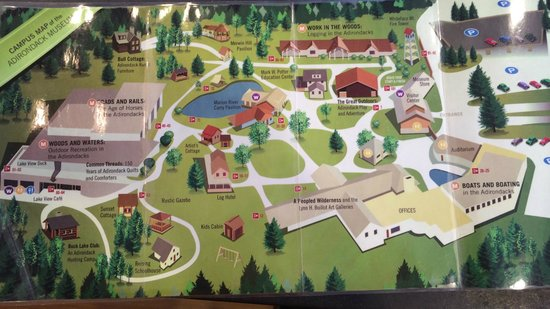 Adirondack Experience, The Museum on Blue Mountain Lake: map of the grounds