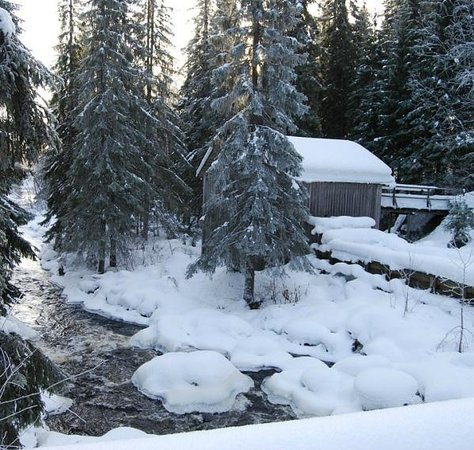 Trehorningsjo, שוודיה: Kvarnen i vinterskrud