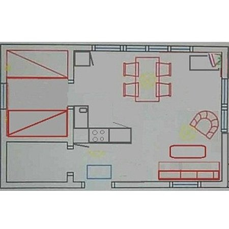 Trehorningsjo, שוודיה: 35 m2 stuga med ett sovrum, allrum med  pentry, dusch och wc