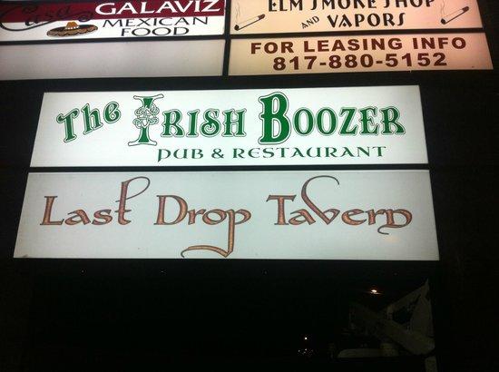 Last Drop Tavern: sign