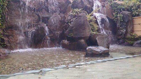 Comfort Hotel Tendo: 滝の流れる露天風呂
