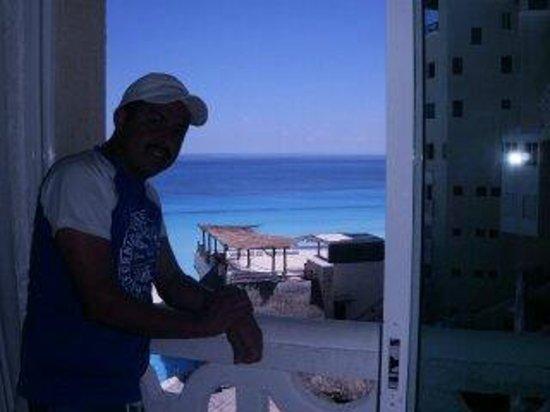 Bsea Cancun Plaza: muy buenos dias  desde la habiatacion viendo el amanecer