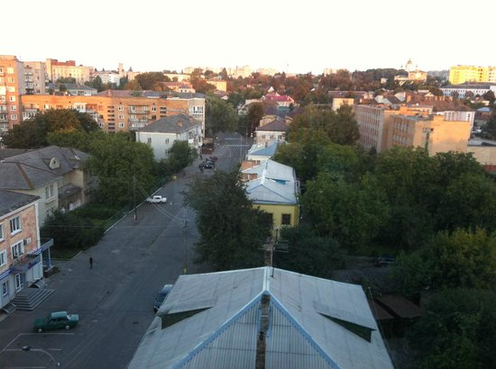 Mir Hotel: Beautiful view from the top floor at sunset