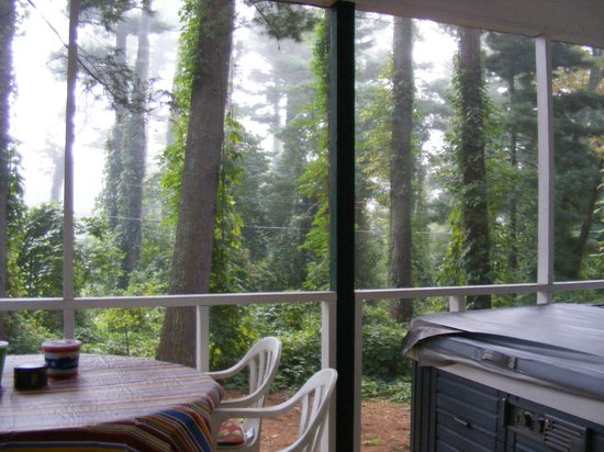 Mountain Lake Cottages: Pine House porch view