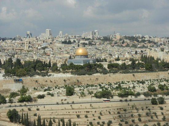 Israel Travel Company - Private Guide Day Tours : View of the Old City of Jerusalem, from the Mount of Olives