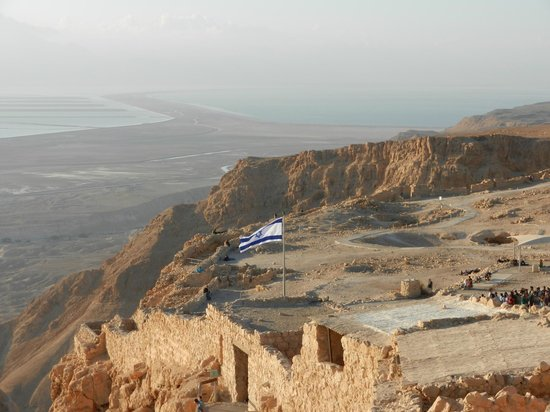 Israel Travel Company - Private Guide Day Tours : Israeli flag, proudly flying from Masada