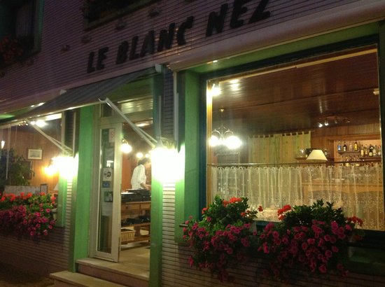 Le Blanc Nez: Front of house at night.
