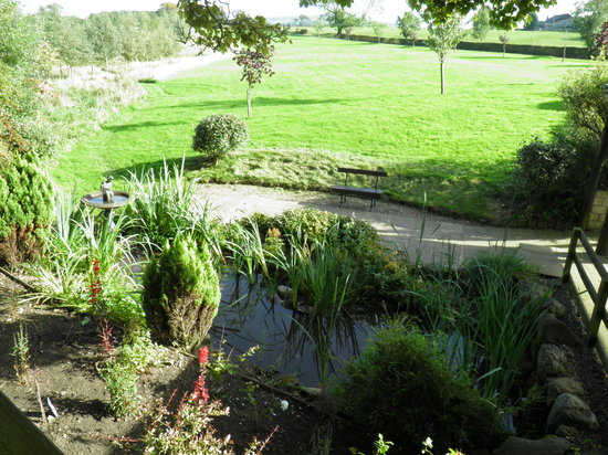 Stirk House Hotel: Lovely views across the valley from the pond..