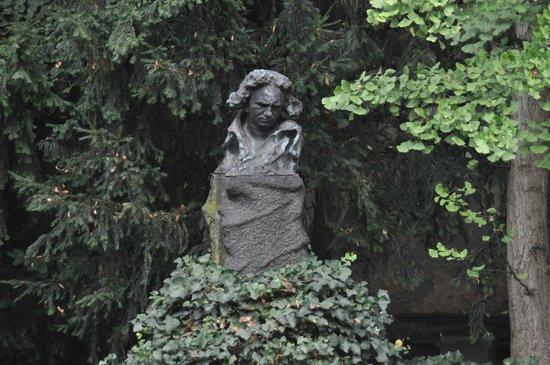 Beethoven House : Statue dans la cour