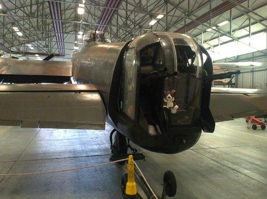 Battle of Britain Memorial Flight Visitor Centre : Soft toys in the gunner's turret