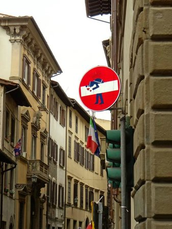 Residence La Contessina : Local street signs a must to look for (Local artist alters signs)