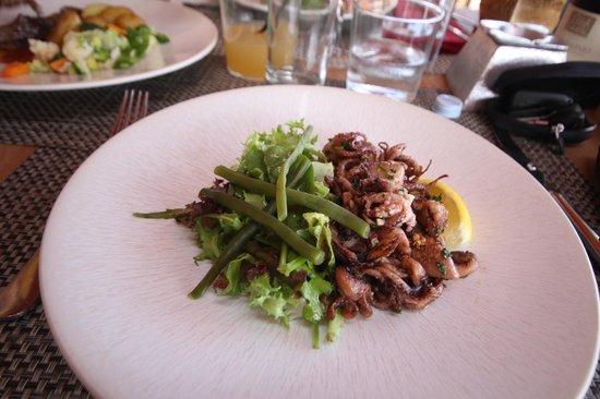 La Table du Goéland : Salade de petits poulpes