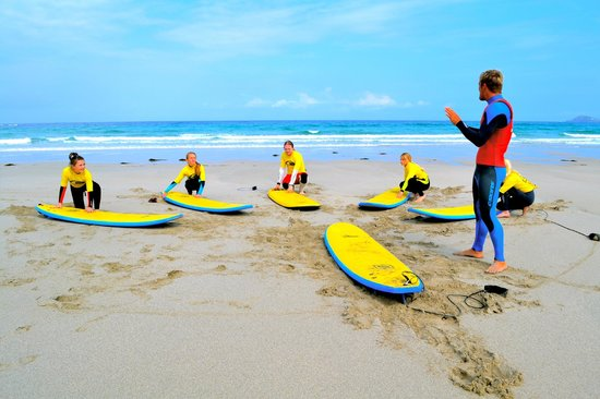 Smart Surf School: Sam Smart: Teaching the students how to control their boards.