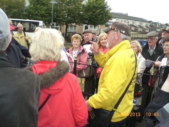 City Tours: John McNulty (yellow jacket) in full flow