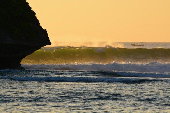 Brothers Bungalows Balangan: Пляж Баланган