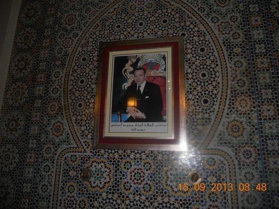 Washington Hotel : La réception (zelliges magnifiques) ... et S.M. le Roi du Maroc, Mohamed VI