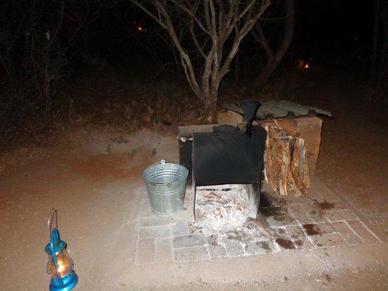 Mosetlha Bush Camp & Eco Lodge : donkey boiler