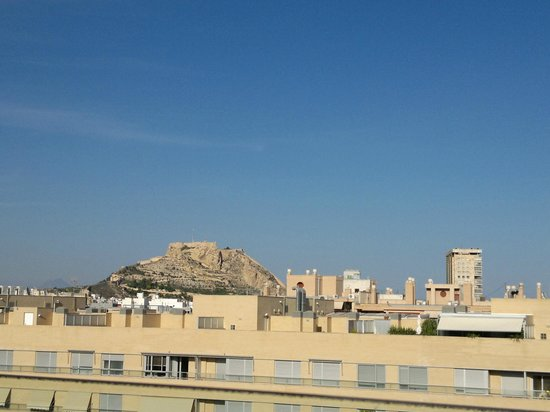 AC Hotel Alicante: view from pool area lookin north eats towards castle