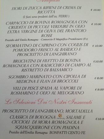 Hostaria 900 : menu 1