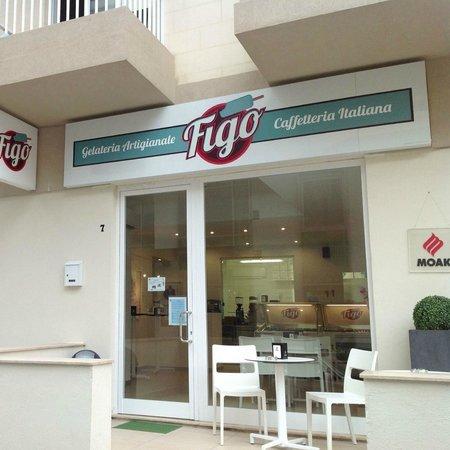 Gelateria Figo: FiGo, 7 Dobbie Street, located in front of Valentina Hotel Paceville