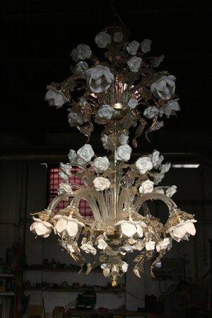 """Guarnieri Glass Factory : """"Lampadario Roser"""" di Giordano Guarnieri"""