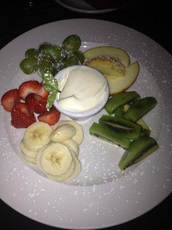 The Loft Restaurant: fruit plate. :)