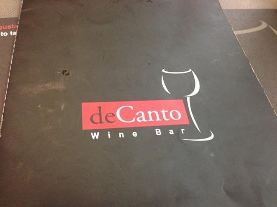 deCanto Wine Bar: menu