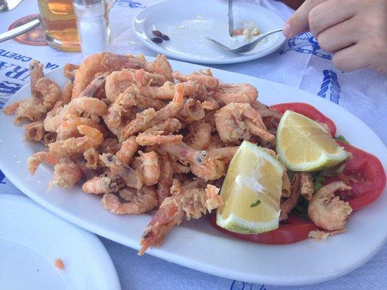Caravella Restaurant : Wonderful fried shrimp