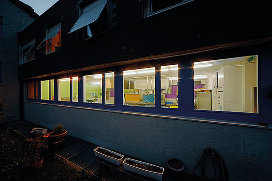 St.Gallen Youth Hostel: Aussenansicht Küche