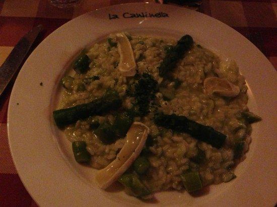 Restaurant La Cantinella: Risoto de aspargos