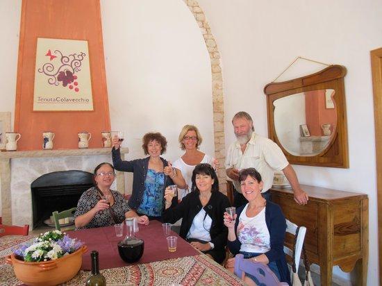 Masseria Cesarina: Wine tasting and tour at the Tenuta Coleveccio winery